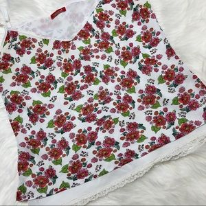 Limelight Tops - Floral Print Lace Top